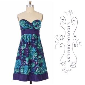 Anthropologie Moulinette Soeurs Strapless Dress